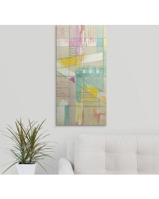 "Great Big Canvas 'Pastel Ladder I' Jennifer Goldberger Painting Print 2211852_ Size: 30"" H x 15"" W x 1.5"" D Format: Canvas"