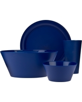 Creative Bath Plastic 13pc Dinnerware Set - Navy (Blue)