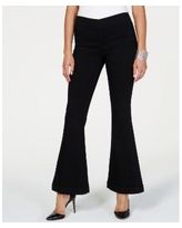 INC Pull-On Flare Jeans, Created for Macy's - Deep Black