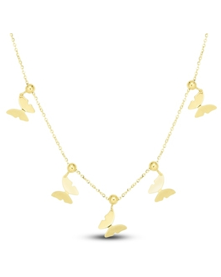 Jared The Galleria Of Jewelry Butterfly Necklace 14K Yellow Gold