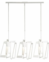 "Hubbardton Forge Triptic 45""W Gloss White Pendant Light"