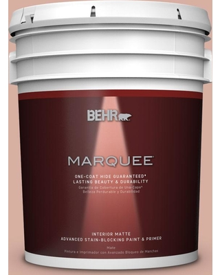 BEHR MARQUEE 5 gal. #S180-3 Flowerpot One-Coat Hide Matte Interior Paint and Primer in One