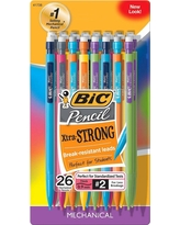 Bic #2 Xtra Strong Mechanical Pencils, 0.9mm, 26ct - Multicolor, Grey
