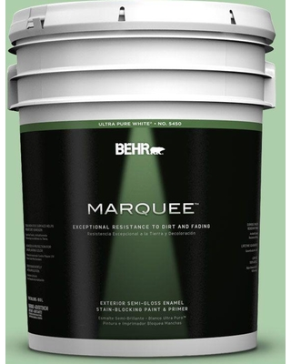 BEHR MARQUEE 5 gal. #450D-4 Garden Room Semi-Gloss Enamel Exterior Paint and Primer in One