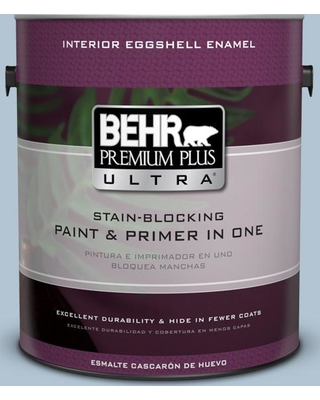 BEHR ULTRA 1 gal. #MQ5-50 Opal Waters Eggshell Enamel Interior Paint and Primer in One