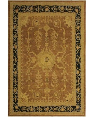 """One-of-a-Kind Dorr Hand-Knotted 9'1"""" x 11'5"""" Wool Beige/Brown Area Rug Isabelline"""
