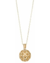 """14k Gold Filigree Ball Pendant Necklace, Women's, Size: 18"""""