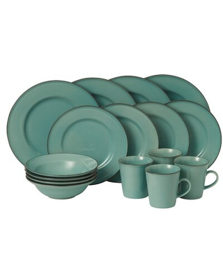 Union Street 16 Piece Dinnerware Set, Service for 4 Royal Doulton Exclusively for Gordon Ramsay Color: Blue