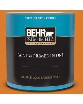 Find Savings On Behr Premium Plus 1 Qt 270b 7 Bonfire Satin Enamel Exterior Paint And Primer In One