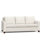 "Cameron Square Arm Upholstered Grand Sofa 96"", Polyester Wrapped Cushions, Denim Warm White"