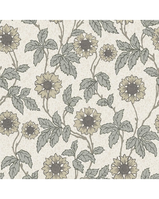 MANHATTAN COMFORT INC Willows Leilani White Floral Paper Strippable Wallpaper Roll (Covers 56.4 sq. ft.)
