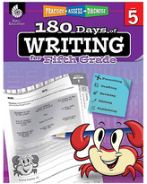 Shell Education Educational Workbooks 42370 - 180 Days of Writing for Fifth Grade Workbook