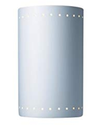Justice Design Group Ambiance Collection 2-Light Wall Sconce - Bisque Finish, Bisque (Unfinished Ceramic), Indoor