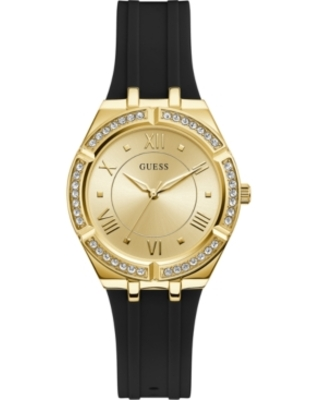 Guess Women's Black Silicone Strap Watch 36mm