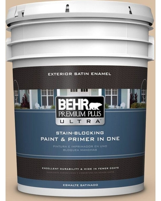 BEHR ULTRA 5 gal. #BXC-77 Riviera Retreat Satin Enamel Exterior Paint and Primer in One