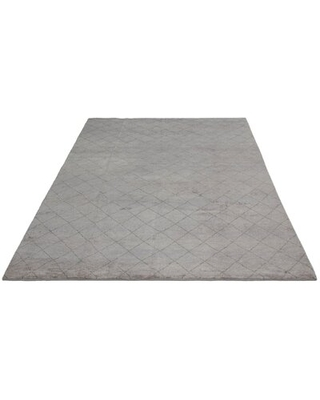 """One-of-a-Kind Selva Hand-Knotted 2010s Transitional Gray 8'10"""" x 11'10"""" Wool Area Rug"""