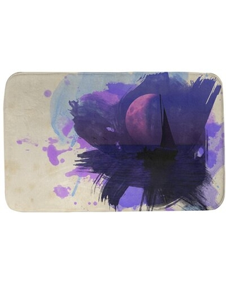 Get This Deal On Kamps Watercolor Moon And Sailboat Rectangle Non Slip Bath Rug Winston Porter Size 17 W X 24 L