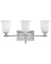 "Nicholas Collection Brushed Nickel 22"" Wide Bathroom Light"