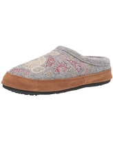 Acorn Women's Clog Slipper, Multi-Layer Memory Foam footbed With A Soft Berber Lining And Suede Sidewall, Heather Grey Hare, 5-6