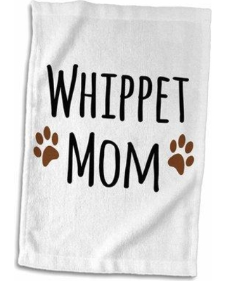 Symple Stuff Fraise Whippet Dog Mom Doggie by Breed Muddy Paw Prints Doggy Lover Proud Pet Owner Mama Love Hand Towel W000701445