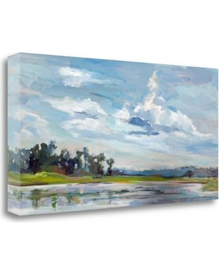 """Tangletown Fine Art 'Tree Reflections' Print on Wrapped Canvas ICH1169D-2613c Size: 16"""" H x 32"""" W"""