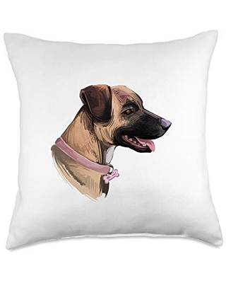 Treeing Tennessee Brindle Throw Pillows & Gifts Treeing Tennessee Brindle Dog Decorative Throw Pillow, 18x18, Multicolor