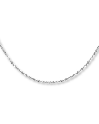 Jared The Galleria Of Jewelry Singapore Necklace 14K White Gold 18 Length