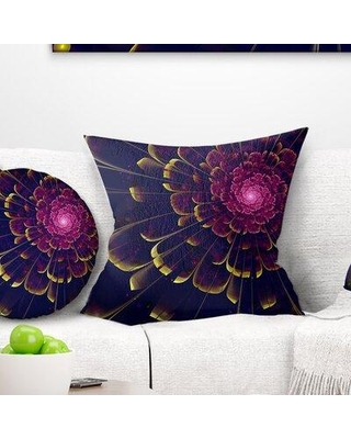 """East Urban Home Floral Fractal Flower Pillow FTIF9610 Size: 16"""" x 16"""" Product Type: Throw Pillow"""