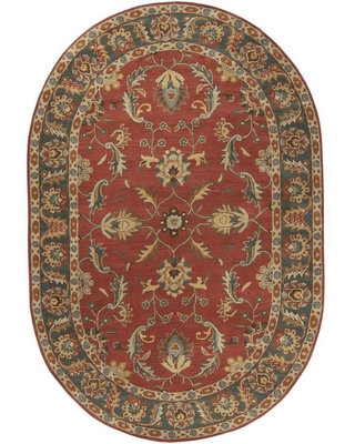 Artistic Weavers Chenni Burgundy 8 ft. x 10 ft. Oval Indoor Area Rug, Red