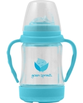 green sprouts Glass Sip & Straw Cup - Aqua (Blue)
