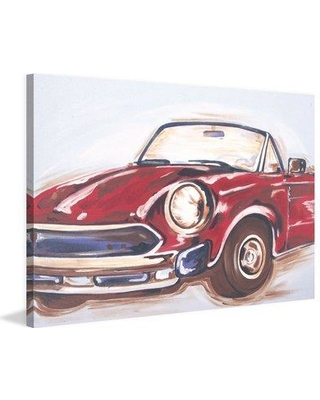 """Marmont Hill """"Vintage Car"""" by Reesa Qualia Painting Print on Wrapped Canvas MH-REEQUA-91-C Size: 30"""" H x 45"""" W x 1.5"""" D"""
