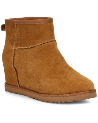Women's UGG Classic Femme Mini Wedge Bootie, Size 9 M - Brown