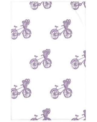 "e by design Bicycles! Geometric Print Polyester Fleece Throw Blanket HGN227 Size: 60"" L x 50"" W x 0.5"" D Color: Hyacinth"