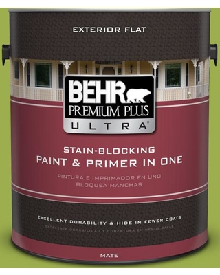 BEHR Premium Plus Ultra 1 gal. #PPU10-05 Intoxication Flat Exterior Paint and Primer in One