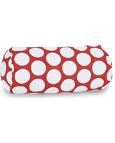 Majestic Home Goods Round Cotton Bolster Pillow 8590721202 Color: Hot Red