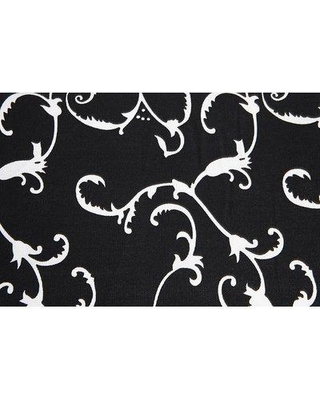 Flato Home Products Damask Tablecloth 1400000042 Color: Black