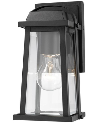 Amazing Deal On Filament Design 1 Light Black Outdoor Wall Sconce With Clear Beveled Glass