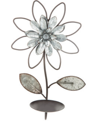 detailed look fe299 d77ef Galvanized Metal Flower Wall Sconce