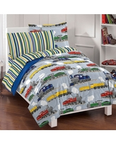 Twin Trains Mini Bed in a Bag Green - Dream Factory