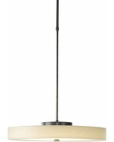 "Disq 23""W Burnished Steel LED Pendant Light"