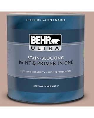 BEHR ULTRA 1 qt. #ICC-53 Cozy Blanket Satin Enamel Interior Paint and Primer in One