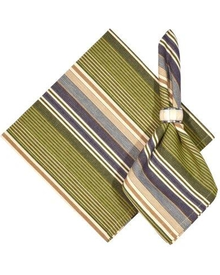 """Traders and Company Greenway 100% Cotton Striped 22"""" Napkin 109838GNW6"""