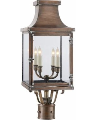 Visual Comfort and Co. E. F. Chapman Bedford 24 Inch Tall 4 Light Outdoor Post Lamp - CHO 7820NC-CG