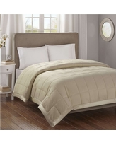 Bed Blanket Parkman Premium Oversized Down Alternative with 3M Scotchgard (Full/Queen) Taupe, Taupe Brown