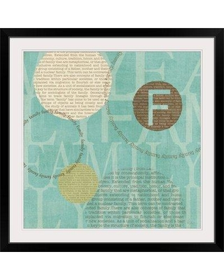 "Great Big Canvas 'Circle of Words - Family' by Veronique Charron Graphic Art Print 1051534_1 Size: 32"" H x 32"" W x 1"" D Format: Black Framed"
