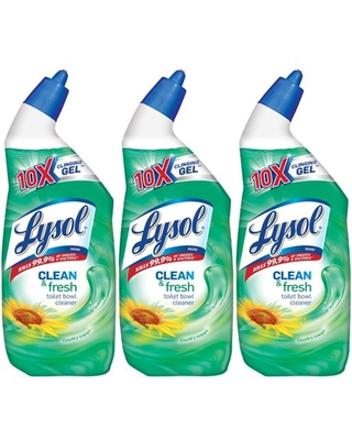 Lysol Clean and Fresh Toilet Bowl Cleaner, Country Scent, 72oz (3X24oz)