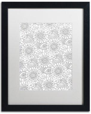 """East Urban Home 'Big Beautiful Blossoms XXXII' Framed Graphic Art ETRB1158 Matte Color: White Size: 20"""" H x 16"""" W x 0.5"""" D"""