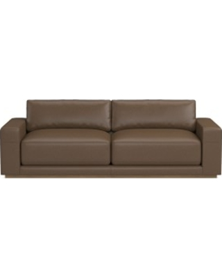 "Berkshire 98"" Sofa, Down Cushion, Italian Distressed Leather, Toffee"