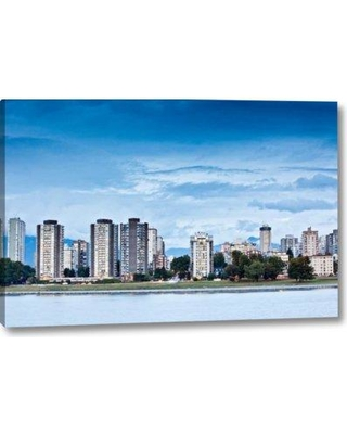 "Ebern Designs 'False Creek IV' Photographic Print on Wrapped Canvas BF156055 Size: 10"" H x 16"" W x 1.5"" D"