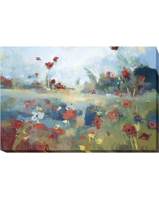"""Artistic Home Gallery 'Garden Delight' Oil Painting Print on Wrapped Canvas 718CG Size: 30"""" H x 45"""" W x 1.5"""" D"""